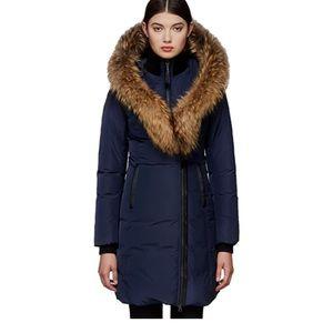 Mackage kay fur hooded down parka coat puffer